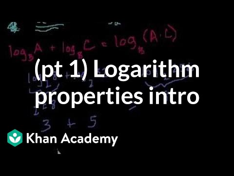 Introduction to logarithm properties   Logarithms   Algebra II   Khan Academy