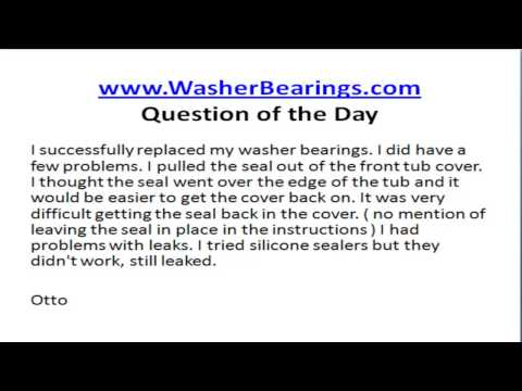 Maytag Neptune Bearing Replacement - What not to do when disassembling your Neptune