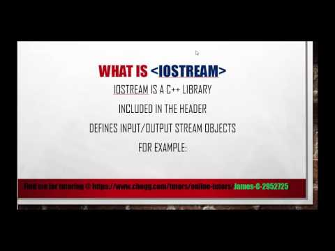 C++ Tutorial | Intro | Hello World | What is iostream libraries and how to use iostream