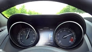 Jaguar F-Type R V8 Coupe Acceleration 0-100 & Epic Sound