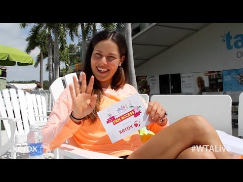 Ana Ivanovic | WTA Live Fan Access presented by Xerox | 2015 Miami Open