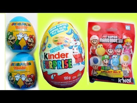 Huge Limited edition Easter Kinder Surprise Egg .Super Mario Bros Wii pack.eggs MsDisneyReviews