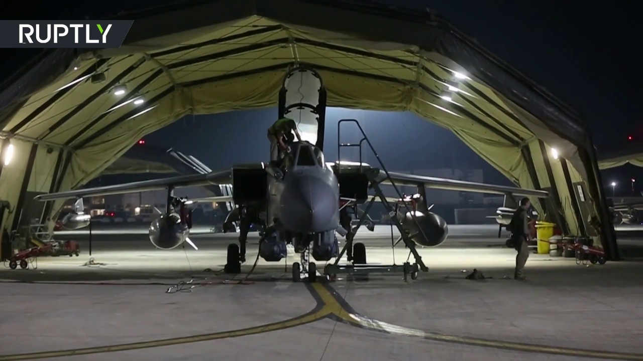RAW: UK Tornado jets prepare for bombing raid on Syria