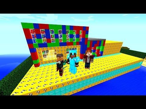 Minecraft Lucky Block Red VS Blue VS Green Mod