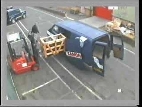 Forklift and van door