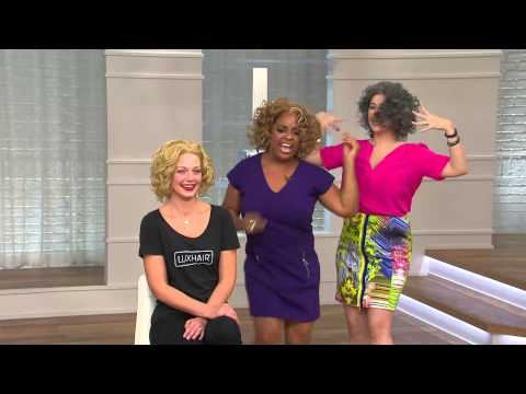 LUXHAIR NOW by Sherri Shepherd Soft Curl Lace Front Wig with Jacque Gonzales
