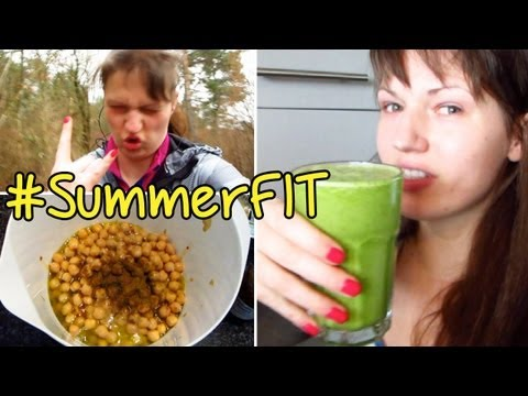 Homemade Hummus | Green Smoothies #SummerFit
