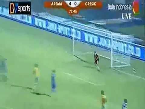 Arema Cronus vs Gresik United (5-0) Indonesia Super League 2014 Full Match