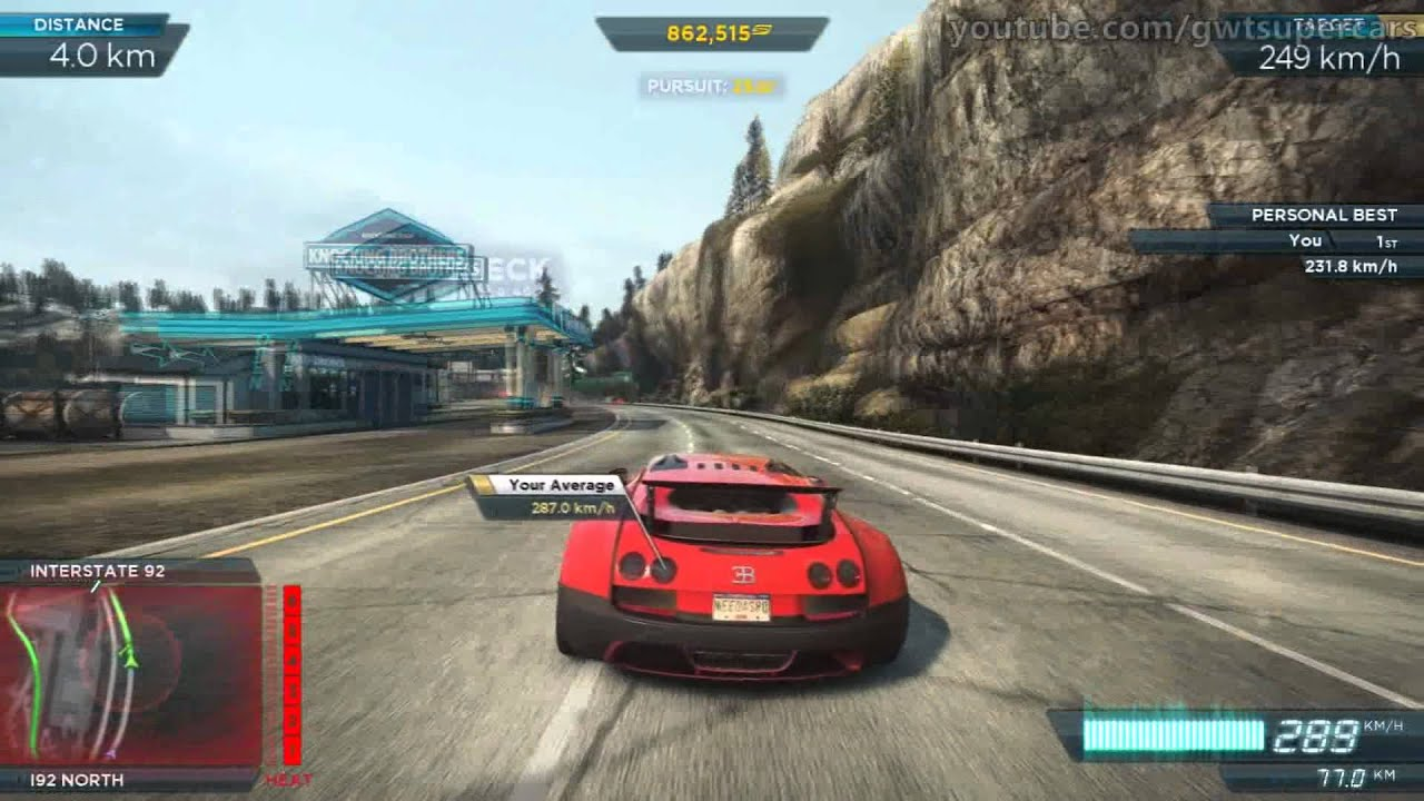 need for speed most wanted pc bugatti veyron super sport needle point 1080p youtube. Black Bedroom Furniture Sets. Home Design Ideas