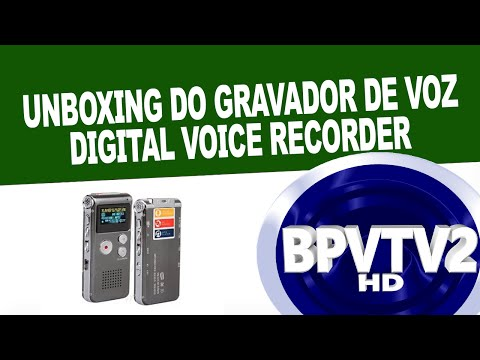 Unboxing do Gravador de Voz Digital Voice Recorder (Vlog)