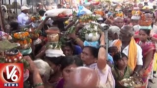 Devotees Throng To Baddi Pochamma Temple And Offers Bonam | Rajanna Sircilla