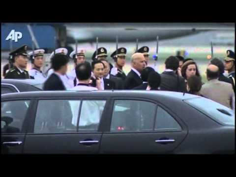 Raw Video: Biden Arrives in China