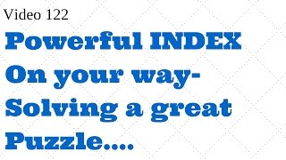 Learn Excel- Video 122 - So powerful ,INDEX WITH MATCH