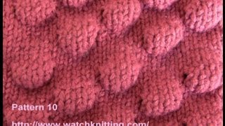 (bobble Stitch) - Embossed Patterns - Free Knitting Patterns Tutorial - Watch Knitting - pattern 10