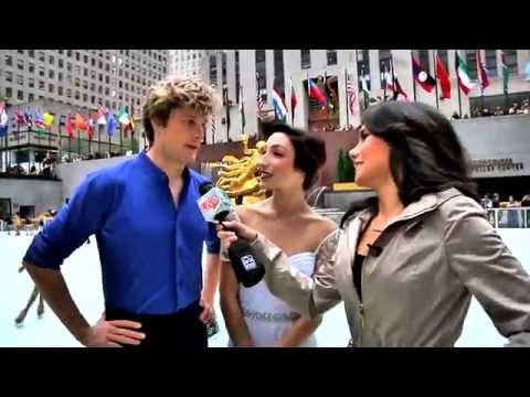 MERYL DAVIS AND CHARLIE WHITE Officially open The Rink at Rockefeller Center!