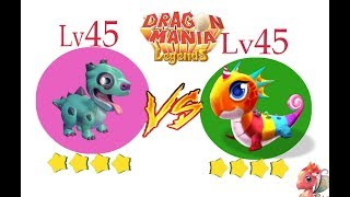 D_CANDY vs D_ZOMBIE (LV 45 - LV 45) WHO'S BETTER?! - DRAGON MANIA LEGENDS #1100 HD