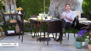 Coral Coast Berea Outdoor Wicker Folding Cafe Table - Product Review Video