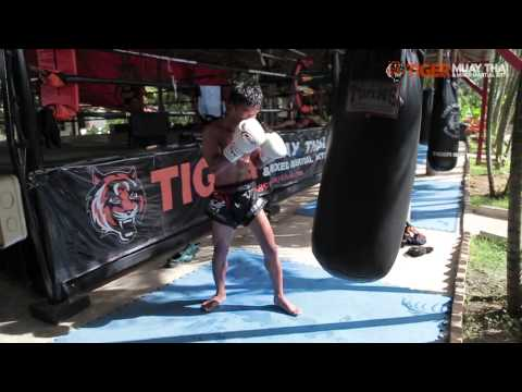 Muay Thai Training heavy bag workout with Krorpet TigerMuayThai Image 1