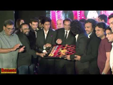 Aamir, SRK & Hrithik at the music launch of Yamla Pagla Deewana 2