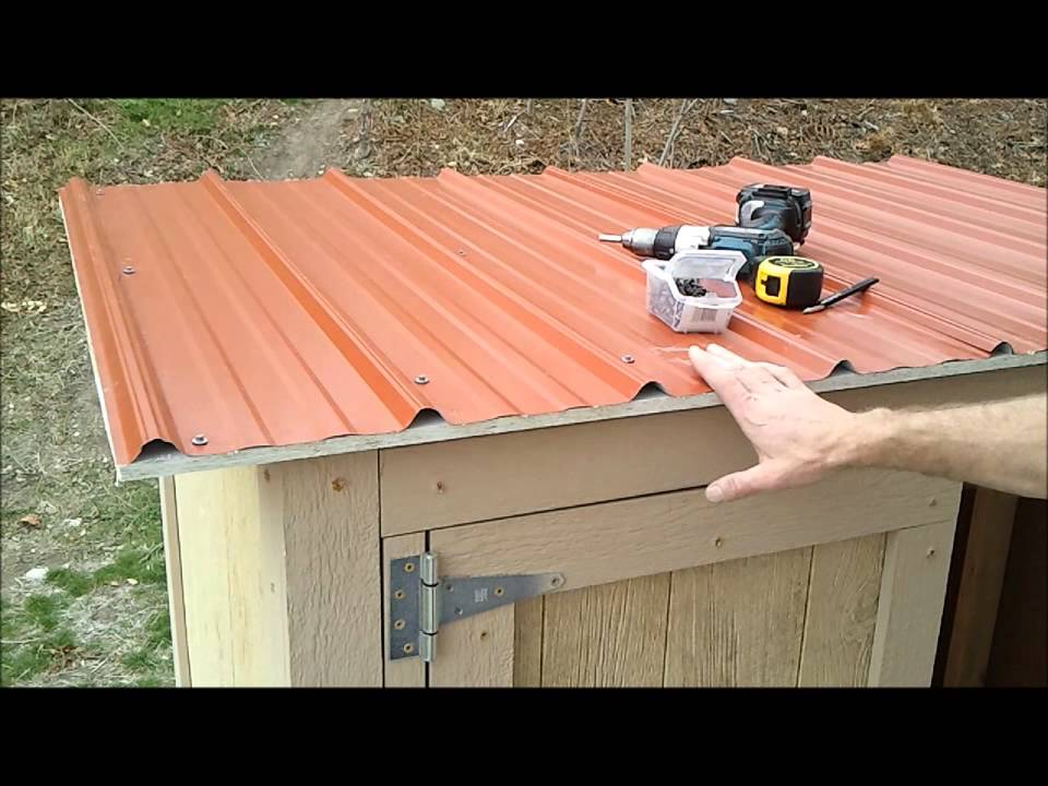 11 Installing Shed Metal Roofing How To Build A