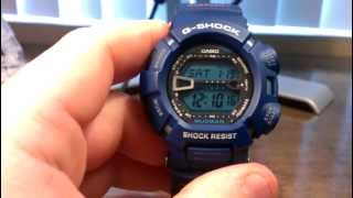 Blue Mudman G9000MX-2 - Casio G-Shock Watch Review Video