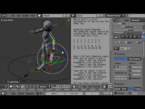 Tob's Blender 2.5 Character Rig: Gobo (work in progress) Video