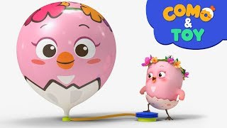 Como | Amazing balloon 2 | Learn colors and words | Cartoon video for kids | Como Kids TV