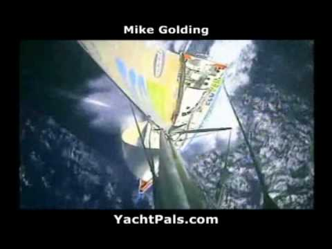 Mike Golding Dismasted Sailing Ecover 3