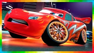 Играем и раскрашиваем тачки Cars Toon Maters - McQueen  play and paint