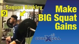 Saquon Barkley - Squat Workout Used for BIG Strength Gains - Ep9