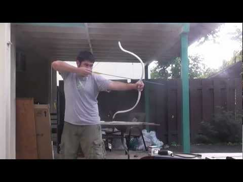 Shooting the Reflexed PVC Youth Recurve Bow