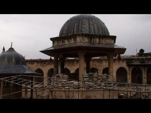 Umayyad Mosque in Syria's Aleppo devastated by conflict