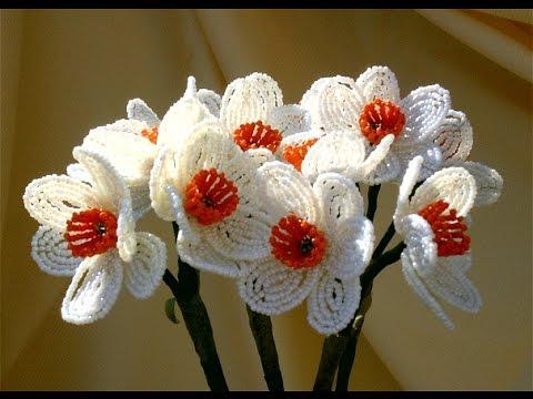 Цветы из бисера. Урок бисероплетения ...