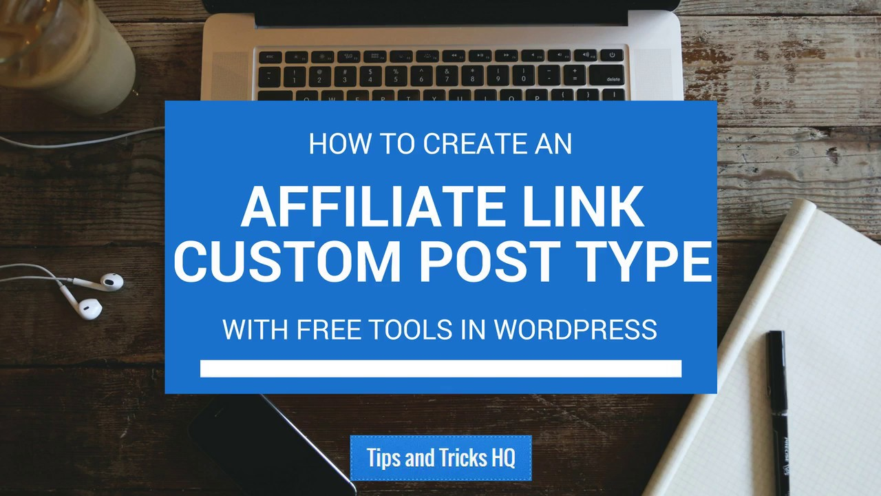 Depending on the type of web site that you are creating, and the desired content structure, it's sometimes very powerful to create custom post types with custom fields.Some of the time, you may want 100% control over the fields for your custom post type.At a minimum, you may want to keep the post title, although you actually don't have to.Keeping the title is handy though for when viewing the content within the Admin and for generating a default post slug.The title doesn't actually have to be used on the front end if it's not needed.Let's explore creating a custom post type for affiliate links, which can be expanded on at anytime.Today, you will simply create an interface to store the affiliate URL, give it a name for easy reference, and to keep track of how many times the affiliate URL was visited.Upon visiting the domain-branded & friendlier custom post URL, as opposed to the ugly affiliate URL, the counter will increment by one, and the browser will redirect to the aff..