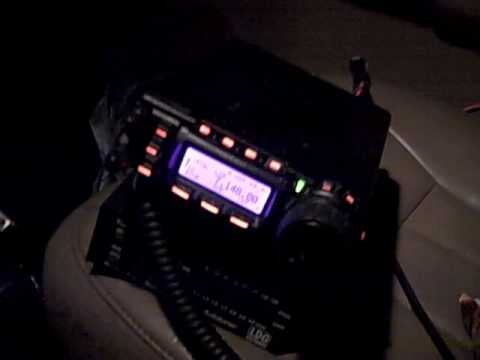 HAM Radio Mobile Yaesu FT-857d Portable on 40 Meter at Nixon Peak in San Clemente, CA