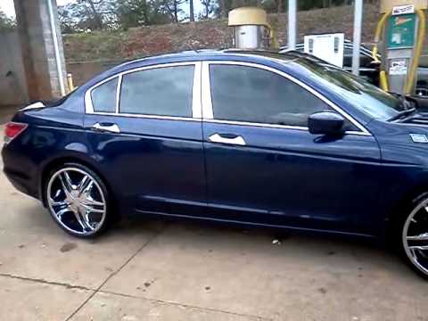 2008 honda accord on 22 39 s youtube. Black Bedroom Furniture Sets. Home Design Ideas