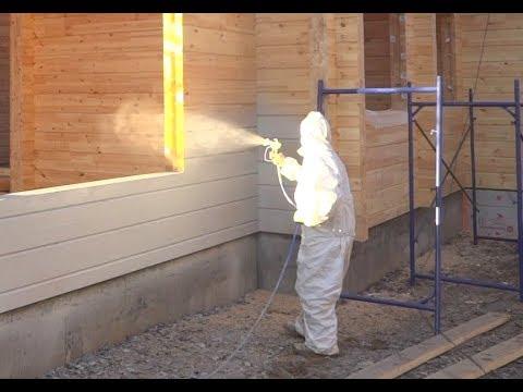 Как правильно покрасить деревянный дом. ПАЛЕКС дома из клееного бруса советы