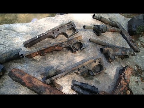 Video # 400 - Machine gun parts found in the river!