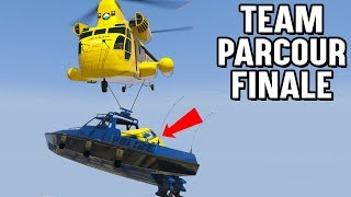 AUTO in SCHIFF an HACKEN vom HELICOPTER 😱 LEVEL ASIAN TEAM PARCOUR (GTA 5 Online)