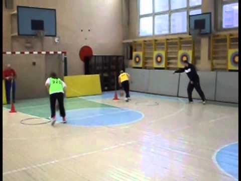 Подвижные игры - эстафеты  5-6 кл. 01.11.2011