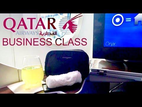 Qatar Airways Business Class Boeing 787 Dreamliner Madrid to Doha