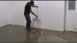 How to use self-leveling on large floor areas