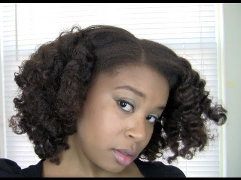 Braid and Curl on Flat Ironed Hair