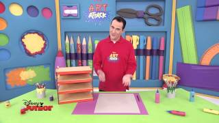 Art Attack - Technique du range papier - Disney Junior - VF
