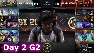Gigabyte Marines vs Flash Wolves | Day 2 LoL MSI 2017 Group Stage | GAM vs FW