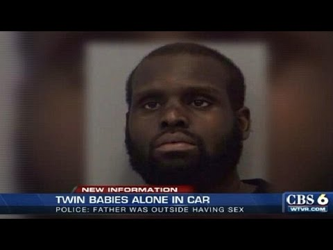 Father left twin girls in hot car to have SEX outside behind apartment complex  @Hodgetwins