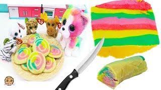 Rainbow Swirl Sugar Cookies  with Beanie Boo's - Cookie Swirl C Cooking Video