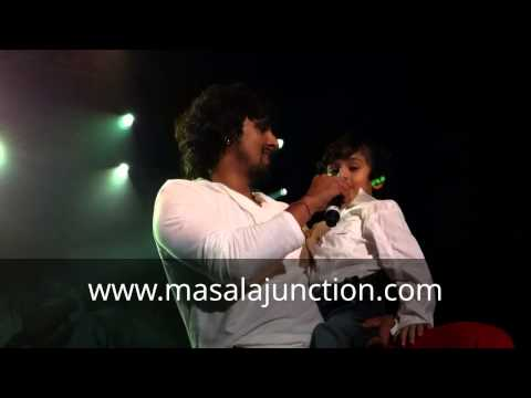 Masalajunction Sonu Nigam's Son Nevaan Singing Why This Kolaveri Di. video