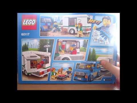 Обзор набора Лего сити Фургон и дом на колёсах И Лего минифигурки 17 коллекции
