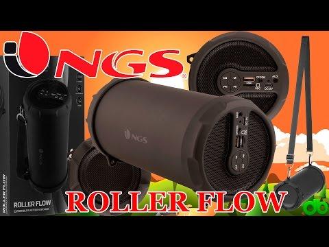 Altavoz 20W BT 2.1 Roller Flow de NGS portátil Radio, Bluetooth, MP3, MicroSD, USB Unboxing y Review